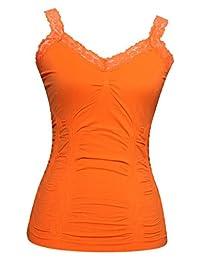 Womens Lace Trim Camisoles (Free Size - Various Colors)