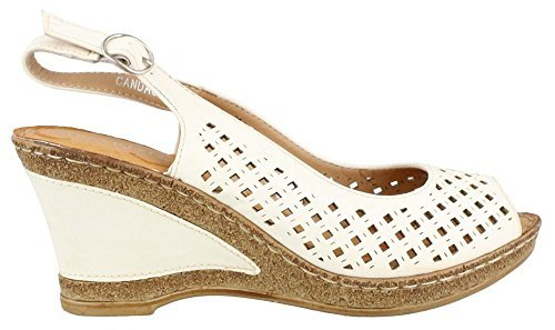 Women's Patrizia, Candace High Heel Sandal WHITE 3.8 M (Upper Sandals Heel High)