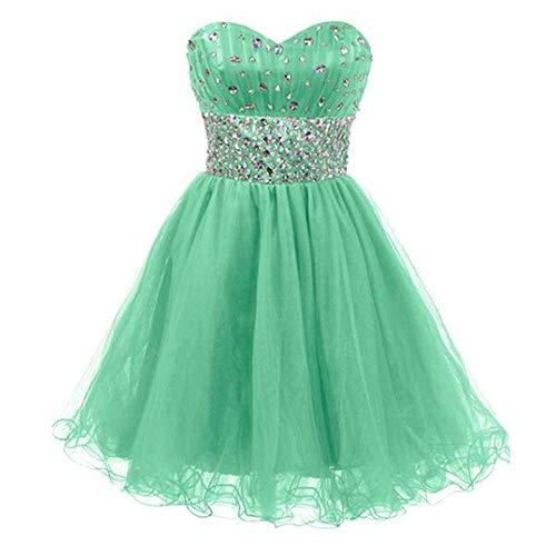 Vestido Us14 Emerald Pequeña Tubo Colección Con color Top Fengbingl De Green Corto Mujer Tamaño Abalorios 4qUw4dgS