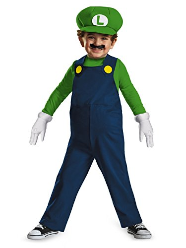 Nintendo Super Mario Brothers Luigi Boys Toddler Costume, Medium/3T-4T -