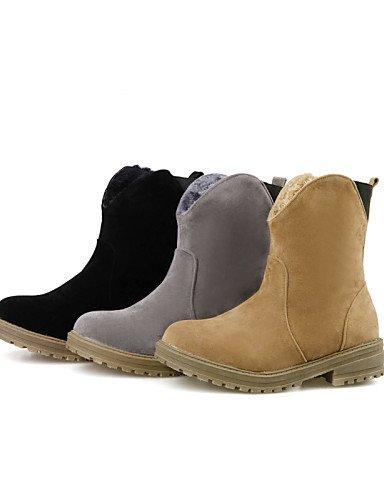 Beute Damen Fleece Rund Beute Fashion Citior Stiefel Schuhe Damen Ferse Casual Stiefel Chunky TzFcSqcw
