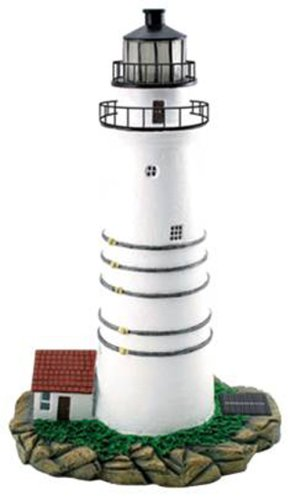 Moonrays 92003 Solar Powered Boston Lighthouse Replica Garden Accent