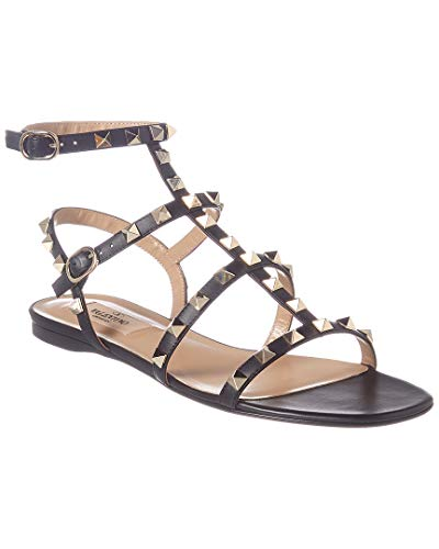 VALENTINO Cage Rockstud Leather Sandal, 36.5, Black for sale  Delivered anywhere in USA