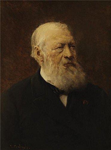Perfect Effectのキャンバス、美しいアート装飾キャンバスプリントの油絵' Jean Portaels – The Writer Henry良心、C。1870 '、10 x 13インチ/ 25 x 34 cmは壁のアートアートワークとホーム装飾、ギフトに最適 B00Y7ULHGK