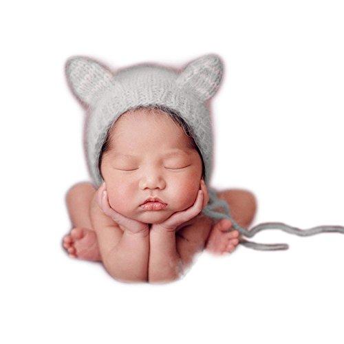 Bebé recién nacido fotografía apoyos niño Niña Gorro de Crochet disfraz  trajes ... ac30278d5e2