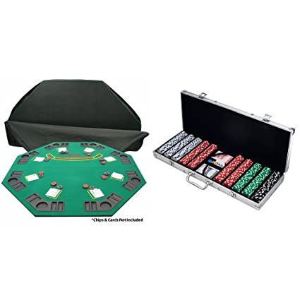 Bon Bundle: Trademark Poker Deluxe Solid Wood Poker And Blackjack Table Top  With Case And Trademark