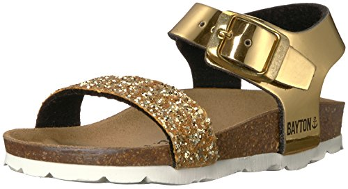 Price comparison product image Bayton Girls' Tyche Sandal, Gold Glitter, 33 Medium EU Little Kid (2 US)