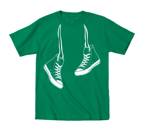 Hanging Sneakers - Youth Shirt - KELLY GREEN - Medium