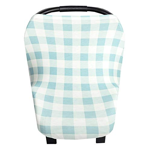 Baby Car Seat Cover Canopy and Nursing Cover Multi-Use Stretchy 5 in 1 GiftLincoln by Copper Pearl