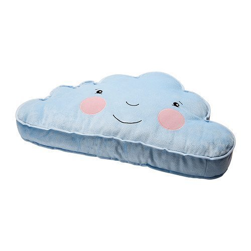Ikea Cushion Pillow Blue Smiling Cloud Accent Kids Children Toy ()