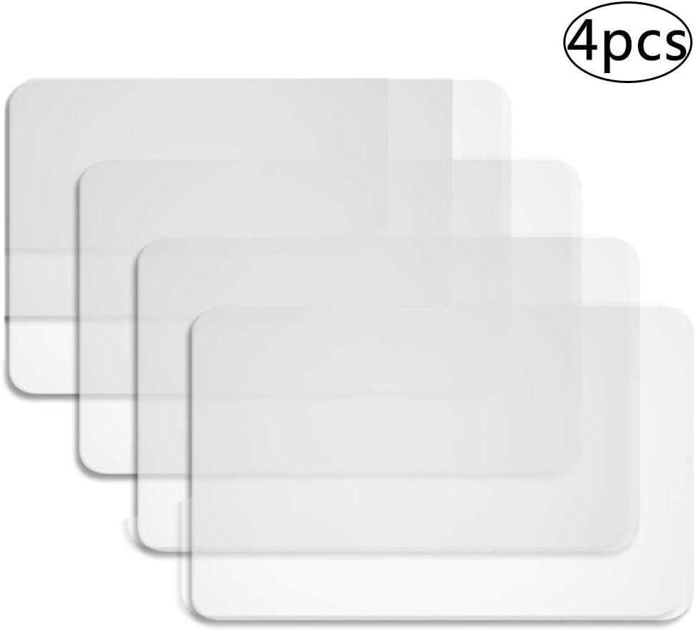 BETOY 4 Piezas Manteles Individuales de Plástico Alfombrillas Manteles Individuales Resistentes Al Calor Alfombrillas para Mesa, Antideslizantes, Lavables, Resistentes al Calor(43 x 28 cm)