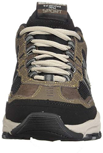 Skechers Sport Men's Vigor 2.0 Trait Memory Foam Sneaker, Brown/Black, 7.5 M US by Skechers (Image #4)