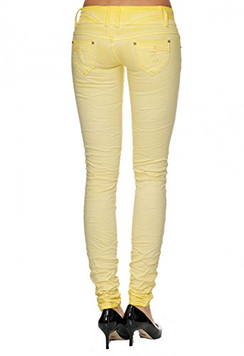 F1700 Hipsters Hosen Distrutti Arizonashopping Jolanda Elasticizzata Donna Tubo Giallo Jeans Da 8SOCCqxaw