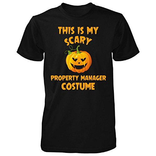 This Is My Scary Property Manager Costume Halloween Gift - Unisex Tshirt Black (Property Brothers Halloween Costumes)