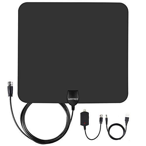 HDTV Antenna,AIRFREE 50 Mile Range Digtial Indoor TV Antenna with High Reception and 13.2ft Coaxial cable (Video Digtial Cable)