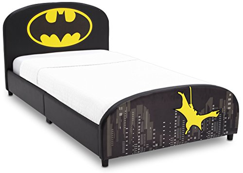 (Delta Children Upholstered Twin Bed, DC Comics Batman)