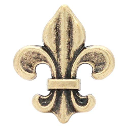 Fleur de Lis Concho Antique Brass 1-5/8