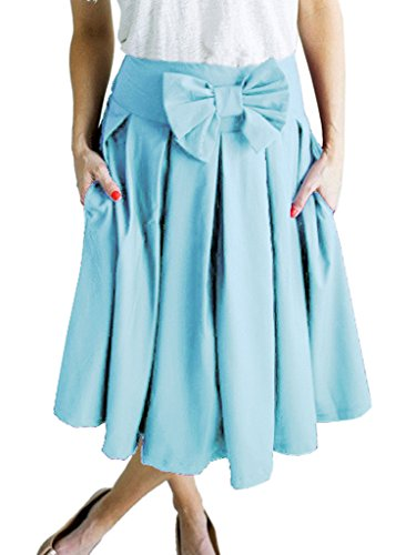 Persun Womens Bowknot Front Pleat