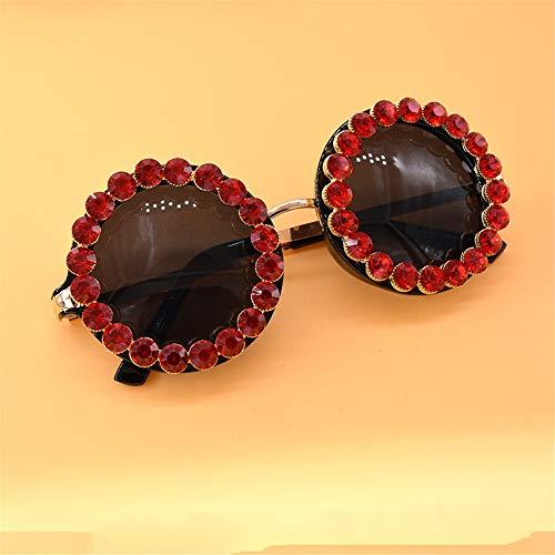 Wenjack Rouge UV la Voyage Summer Crystal Couleur de Beach Ronde Protection Ultra Forme Femmes Multicolore Sunglasses Lady's légères Les pour Conduite SRrqS