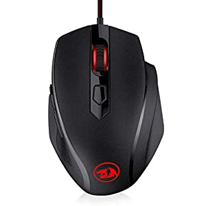 Redragon M709-1 Tiger2 Red LED Gaming Mouse, 3200 DPI Wired Optical Gamer Mouse with Precision Actuation, 6 Programmable…