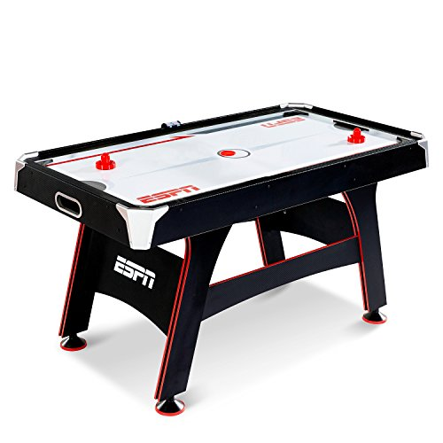 ESPN Air Hockey Game Table: Indoor Sports Gaming Table Set with Equipment Accessories - 2 Paddles, 2 Pucks, and LED Electronic Score Keeper - 5 (Pro Ice Hockey Goalie Leg)