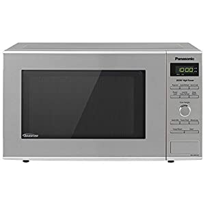 Panasonic Microwave Oven NN-SD372S Stainless Steel Countertop/Built-In with Inverter Technology and Genius Sensor, 0.8…