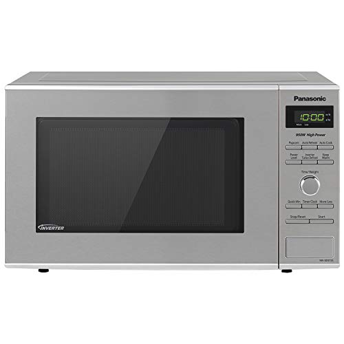 (Panasonic Microwave Oven NN-SD372S Stainless Steel Countertop/Built-In with Inverter Technology and Genius Sensor, 0.8 Cu. Ft, 950W)