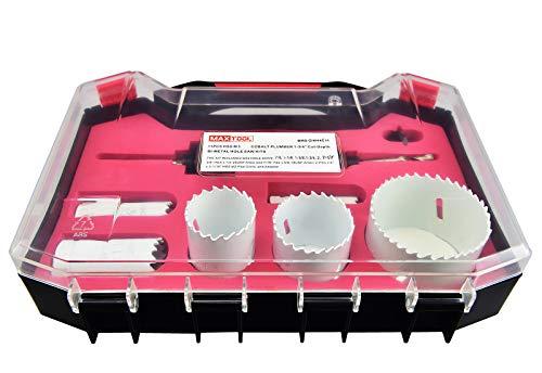 MaxTool Electrician Bi-Metal Hole Saw Kits, HSS M3, 1-3/4