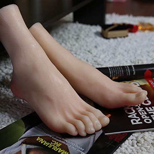 FidgetFidget A Pair Realistic Silicone Male Feet Shoes Displays Model Mannequin Size 43 h012 by FidgetFidget (Image #4)