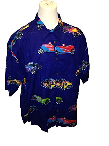 - Big and Tall USA Made Hawaiian Shirts In Stylish Prints Cotton Rayon Blend (Hot Rods, 3X Big)