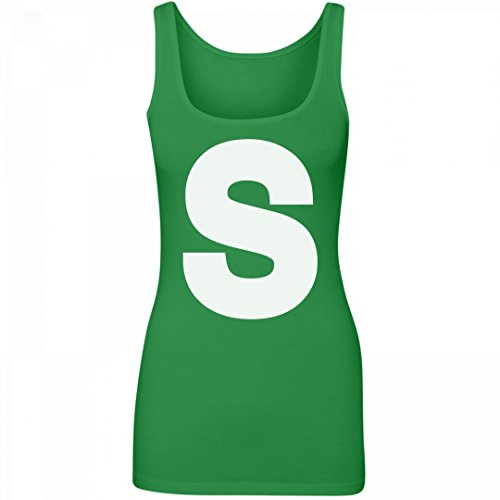 Skittles Outfit (Candy Costume Green: Junior Fit Longer Length Tank Top)