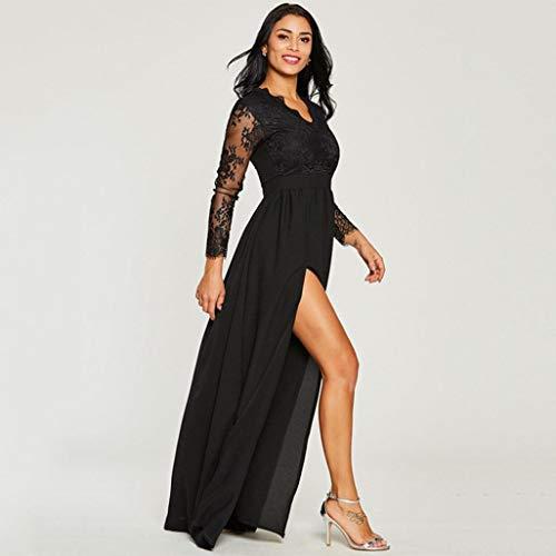 Vestido Largo de Fiesta de Encaje de Mujer, ❤ Absolute Boda Profunda del Baile de Fin de Curso del Partido de Tarde del cordón del V-Cuello: Amazon.es: ...