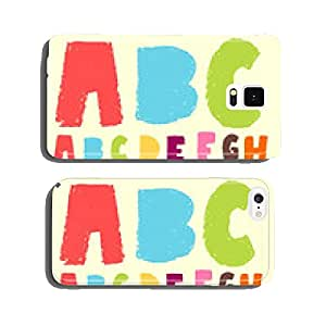 doodle pastel color alphabet set cell phone cover case Samsung S6