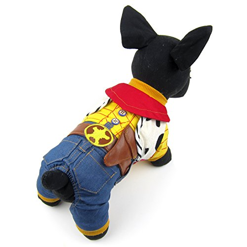 Alfie Pet by Petoga Couture - Niko the Cowboy for Party Halloween Special Events Costume - Size: Small (A&e Halloween Special)