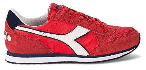Diadora K-Run Ii, Zapatilla de Deporte Baja del Cuello para Hombre, Dark Blue/Ferrari Red Rojo