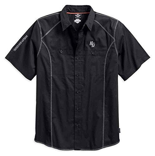 - Harley-Davidson Men's Performance Coldblack Tech Woven Shirt 99016-17VM (2XL)