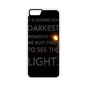 iPhone 6 4.7 Inch Cell Phone Case White quotes parallax darkest moments focus to see light Pgbcy