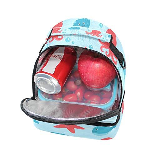mar para hombro estrella aislante de de Bolsa de ajustable la con pincnic escuela y correa para el almuerzo de Alinlo diseño UzRqn0w