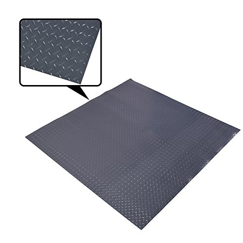 Rifrano Waterproof Diamond Plate Rubber Flooring Rolls PVC Material for Car (1/8-Inch × 4 × 6-Feet)