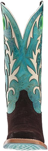 Ariat Kvinners Chute Arbeid Boot, Sjokolade Flodhest Print, 10 B Oss Sjokolade Flodhest Print