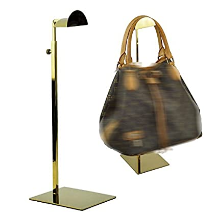 cb40a249f8 Image Unavailable. Image not available for. Color: 5 Pack of Adjustable  Metal Titanium Gold Handbag Stand Display Women ...