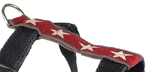 Earthdog-Halter-Harness-Adjustable-Hemp-Red-Star-Design