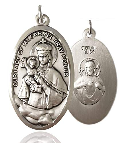 Heartland Store Sterling Silver Our Lady of Mount Carmel Medal Scapular Back - Pendant Only
