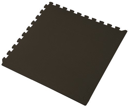 We Sell Mats 24BK1-10M Interlocking Anti-Fatigue EVA Foam Floor Mat, Black]()