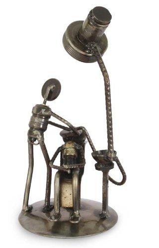 Root Sculpture (NOVICA Metallic Handcrafted Recycled Metal Iron Sculpture, 8.75