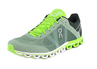 Amazon.com | On Running Mens Cloudflow Shoes, Moss/Lime