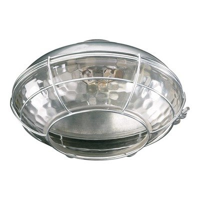 Quorum 1375-809, Large Clear Hammered Glass Patio Light Kit, Galvanized