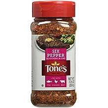 Tone's Six Pepper Blend 7.25 oz. Shaker