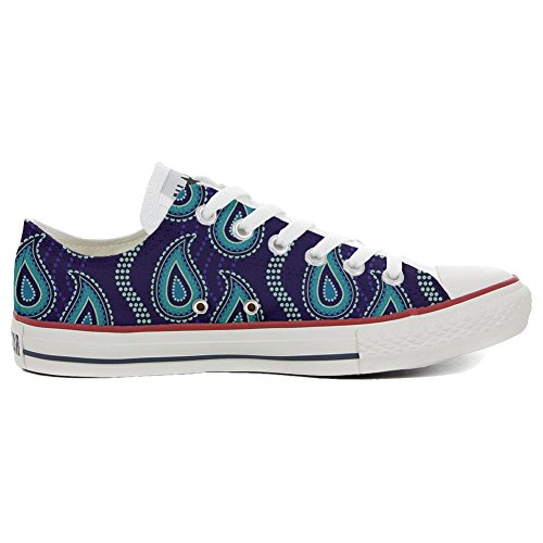 Converse All Star Slim Customized personalisierte Schuhe (Handwerk Schuhe) Purple Paisley