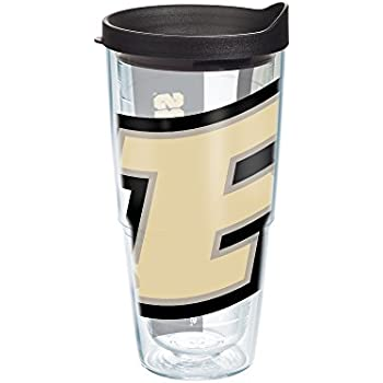 Tervis Purdue University Colossal Wrap Individual Tumbler with Black Lid, 24 oz, Clear